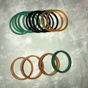 Jewelry - Glass plastic bangles